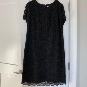 Boden Black Short Sleeved Lace Dress SZ 12L